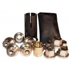 Defender, Discvoery 1  and RRC Locking wheel Nuts and Key Kit