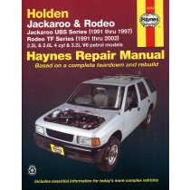 Holden Jackaroo Petrol 1991-1997 Holden Rodeo Petrol 1991-2002