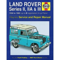 Land Rover Series II, IIA & III models (including County) with 88 & 109 inch wheelbase. Petrol: 2 1/4 litre (2286cc) 4-cyl. Diesel: 2 1/4 litre (2286cc) 4-cyl.