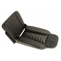 Seat Rear F/Face Vinyl Black