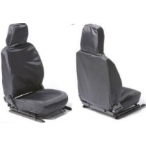 Front Outer Pair W/P Seat Cover Grey Defender 07 on
